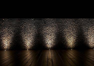 Rockweld Gabion wall at night