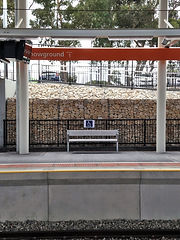 Gabions installed at the Wayville Train Station Upgrade, Adelaide