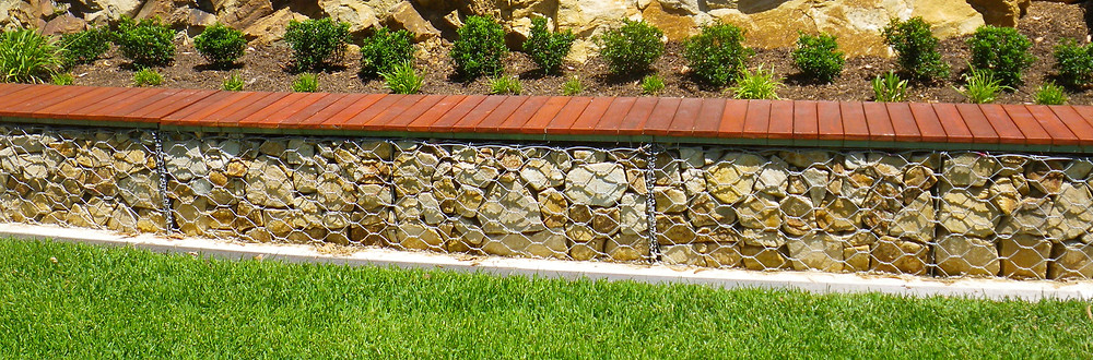 Gabion Retaining Wall Seat-by Prospect Contractors