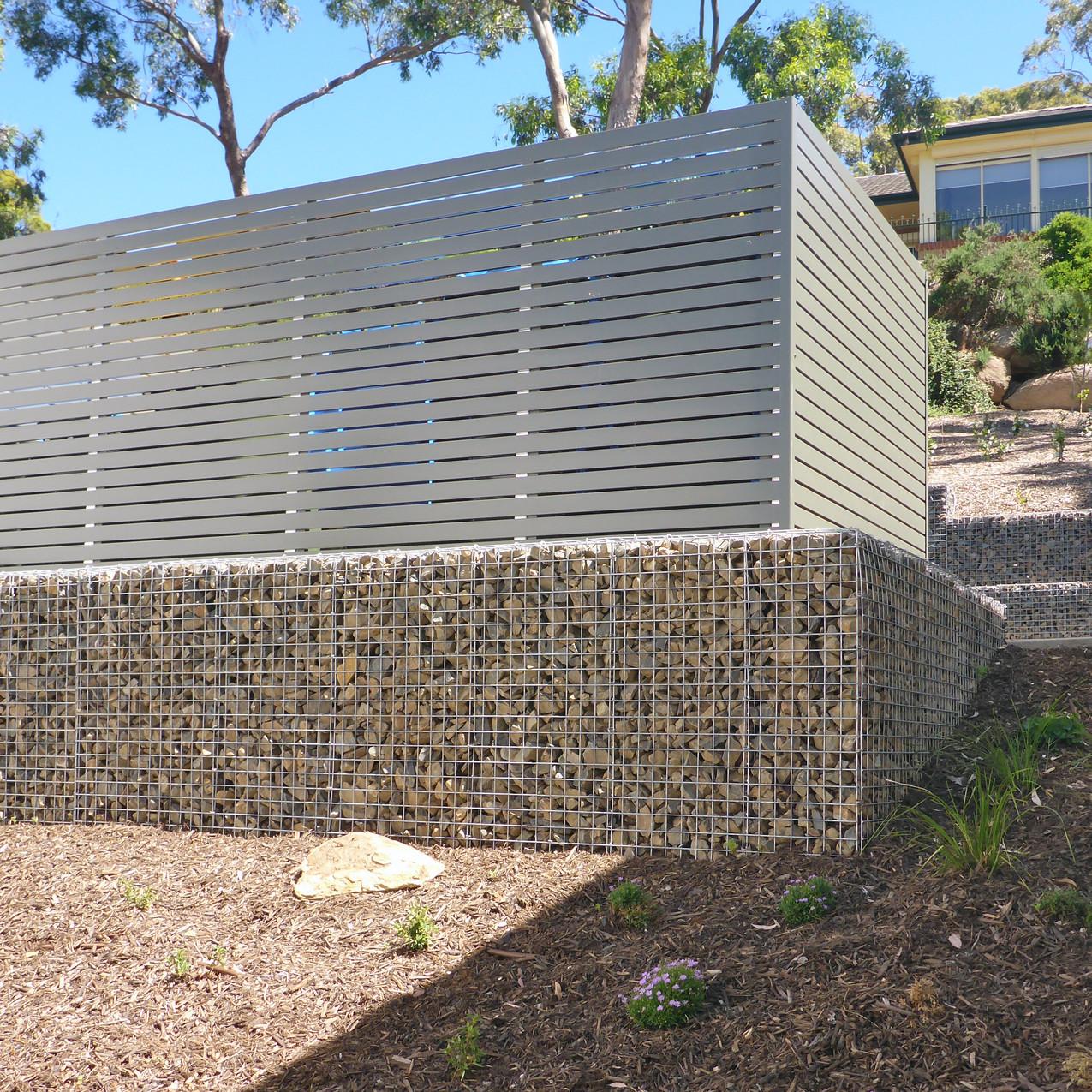Rockweld Gabion Decking Wall