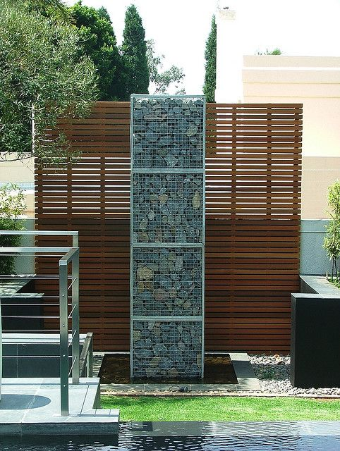 Gabion and Timber Feature Wall