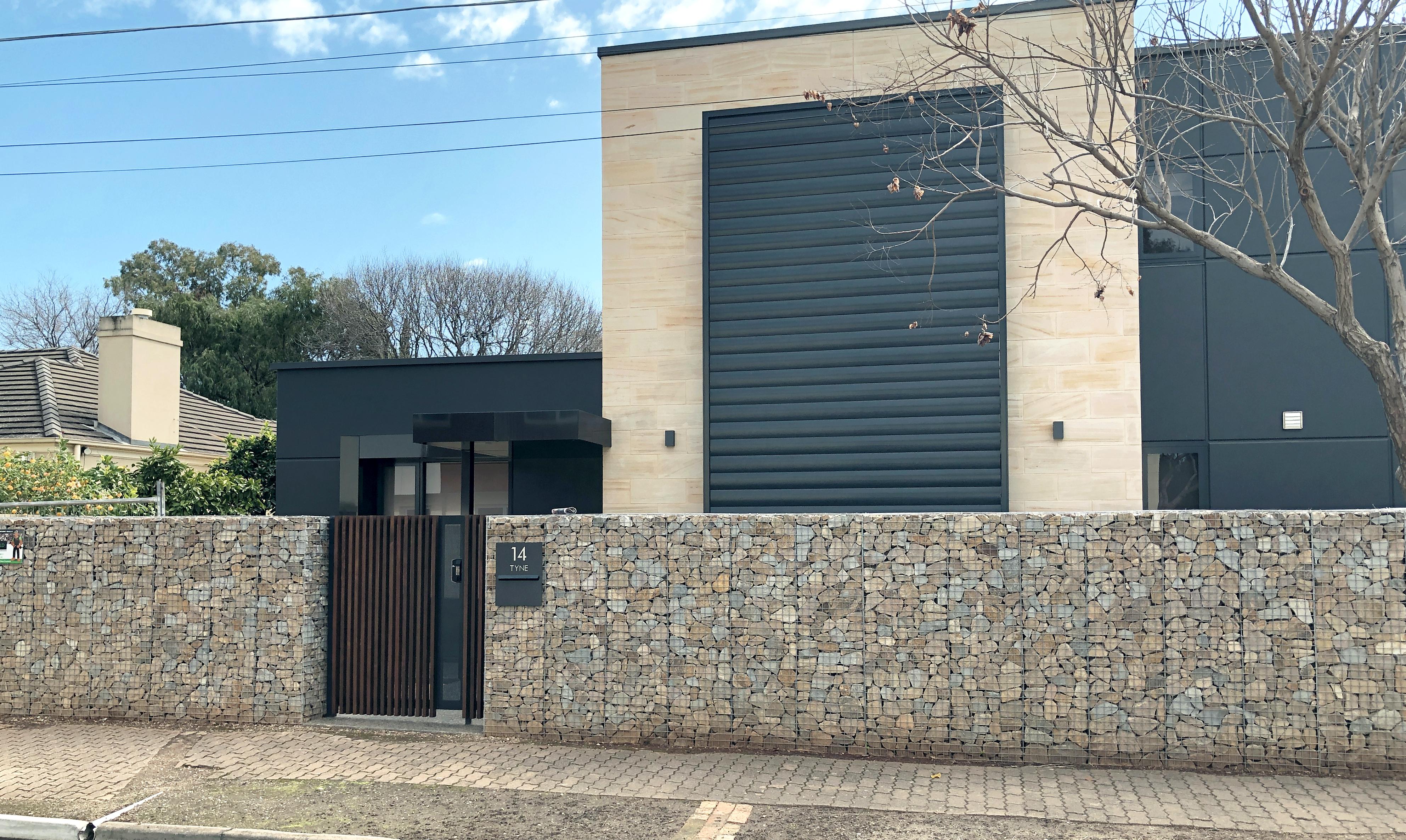 Gilberton Rockweld Gabion Wall