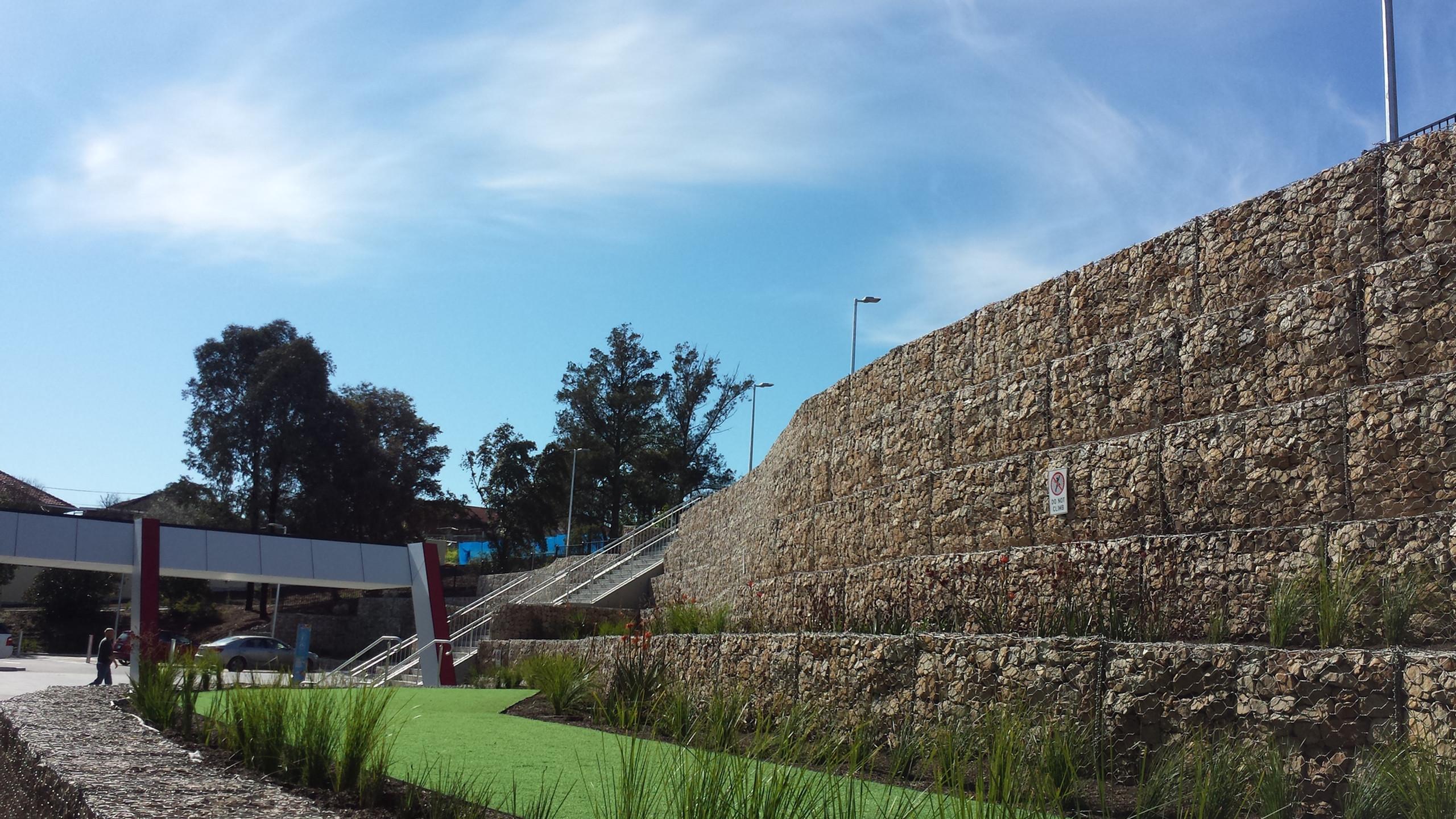 ARC Campbelltown Gabion Wall