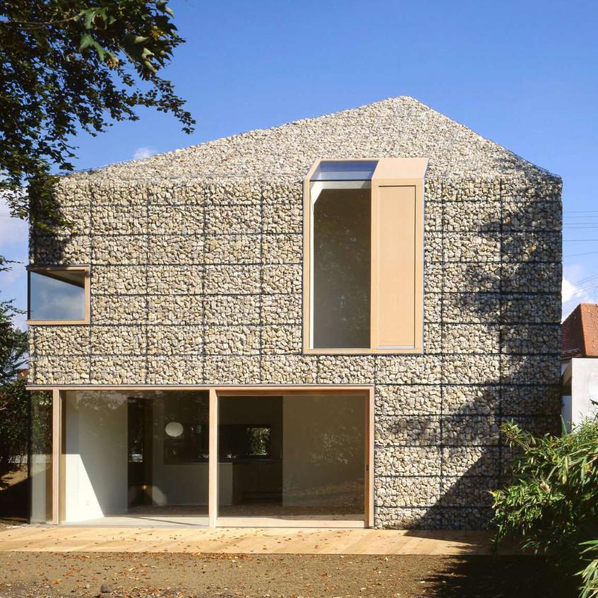 9 x 9 Gabion House, Stadtbergen