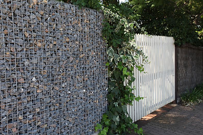 Walkerville Weld Mesh Bluestone Fence by Prospect Contractors
