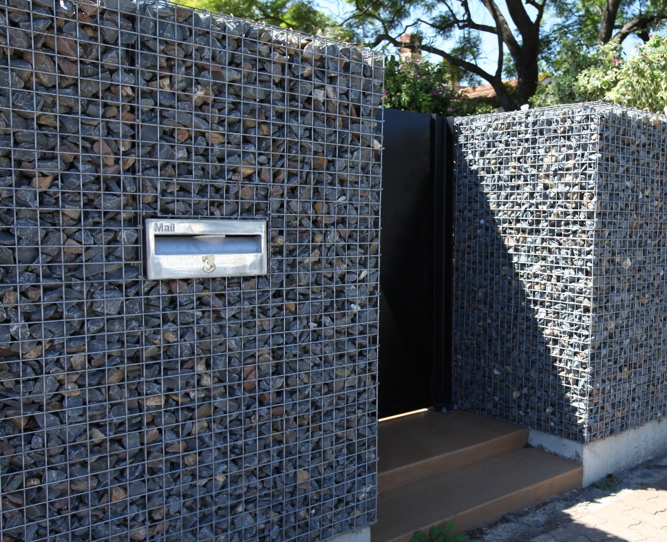 Smith St Gabion Noise Wall Letterbox