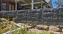 A Gabion dump wall was constructed at the North Star Mine Site.
