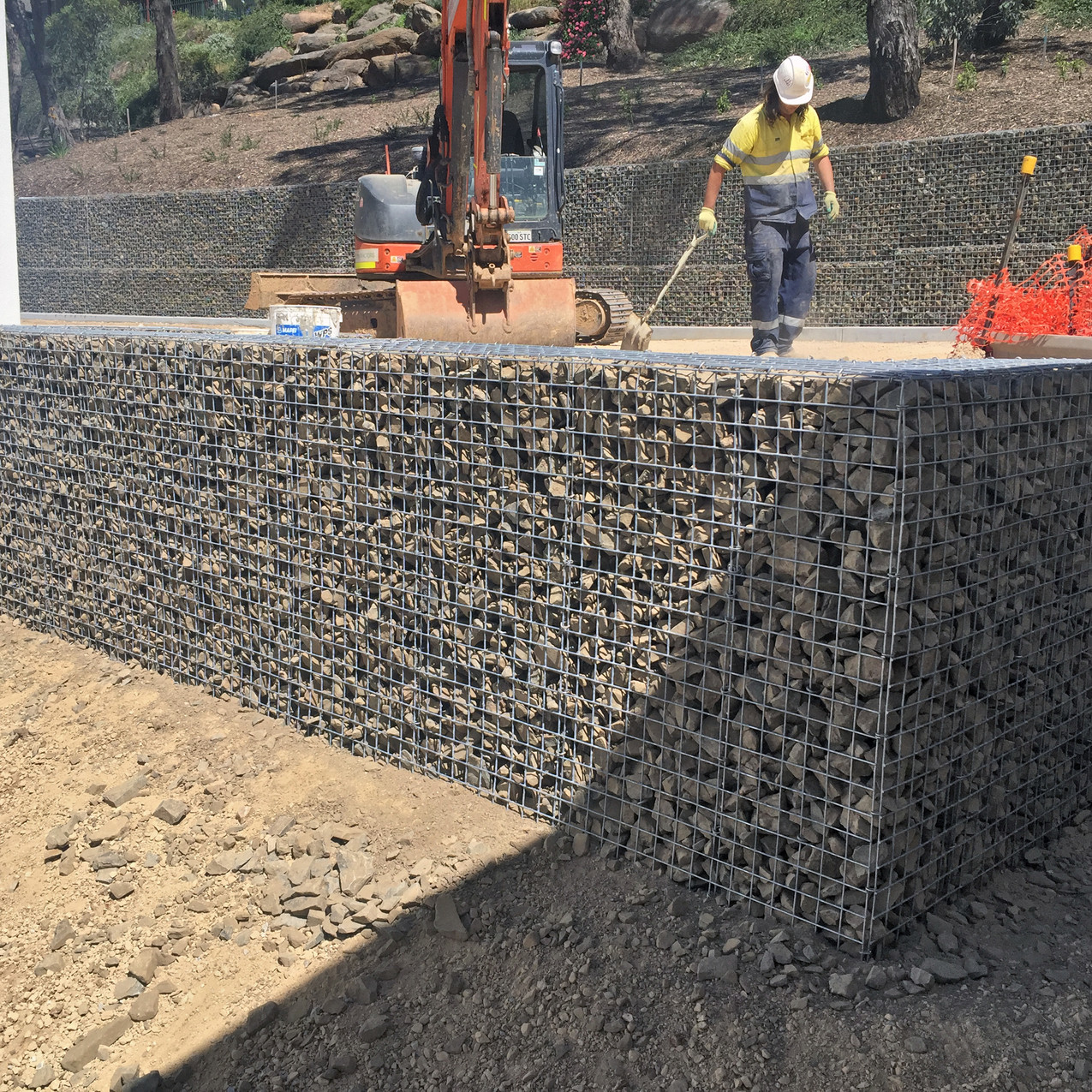 Rockweld wall construction