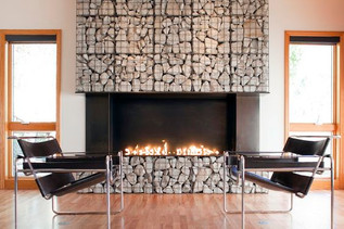 10 Hot Gabion Fireplace Ideas