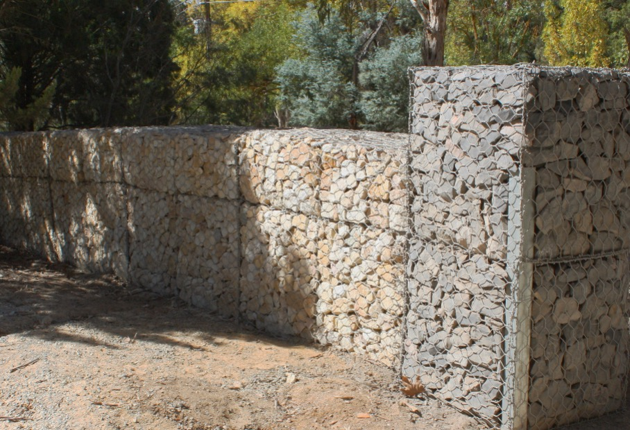 One Meter Thick Gabion Wall