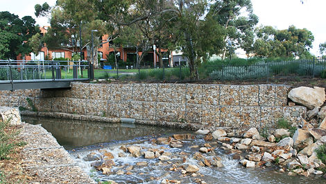 Prospect Contractors built Gabion walls along the riverbank, protecting against future erosion while also providing a stronger foundation for the new boat ramp.