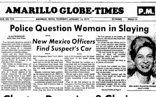 Amarillo Globe News Mary Powers