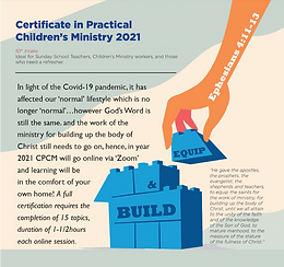 Certificate in Practical Children's Ministry 2021 (10th Intake)