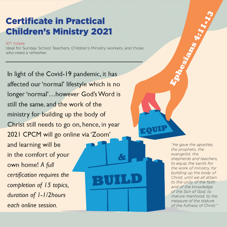 Certificate in Practical Children's Ministry 2021 – 10th Intake