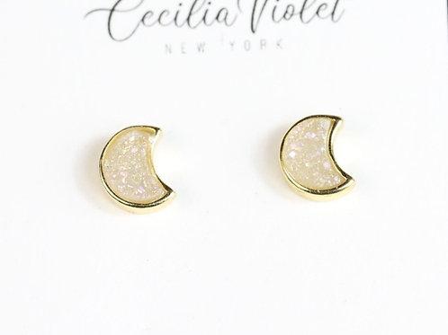 Moon Quartz 18 k gold (pt)