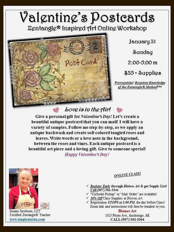 1-31 Poster-Valentine's Postcard ZIA Cla