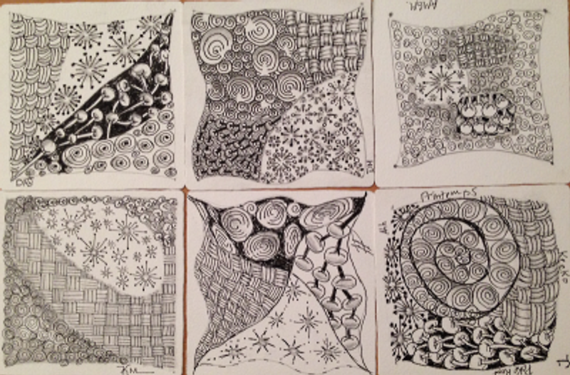 Second Zentangle class tile