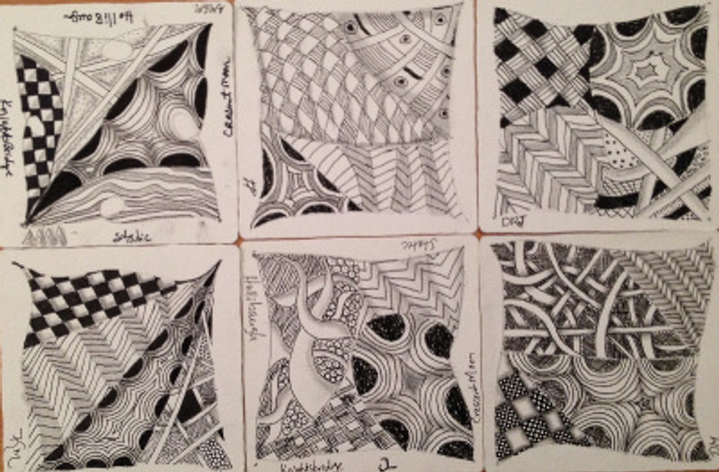 First Class Zentangle Tile