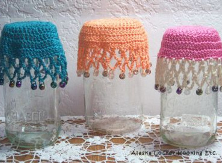 Beaded Glass Covers and Doilies
