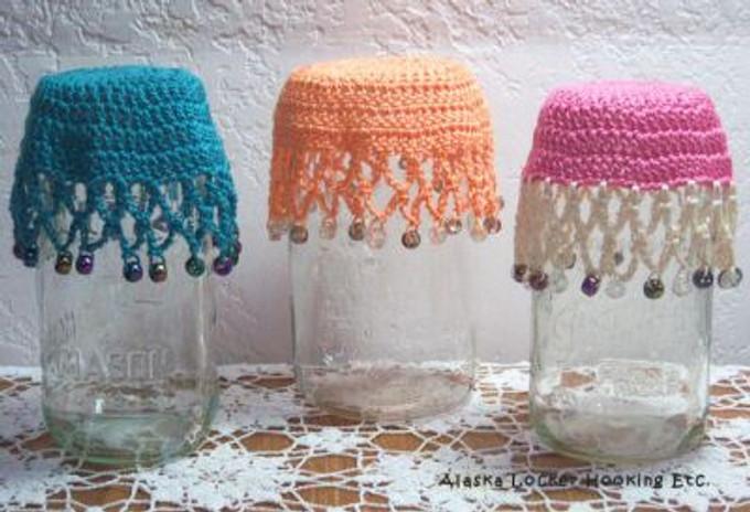 Crochet Glass Covers