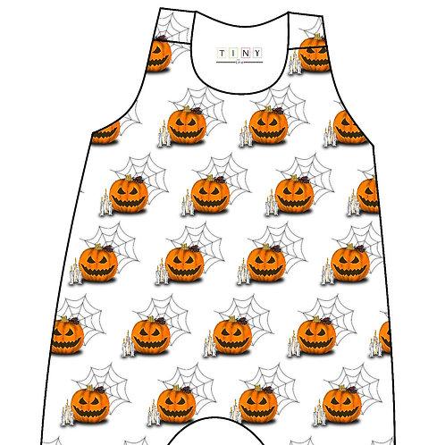 White pumpkin romper