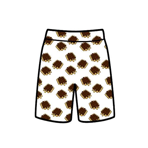 Chocolate waffle shorts