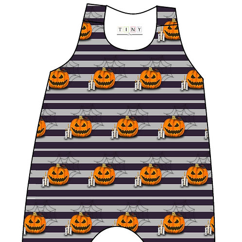 Pumpkin stripes romper