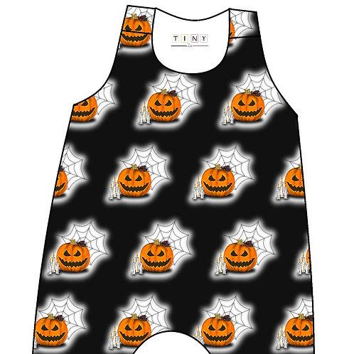 Black pumpkin romper