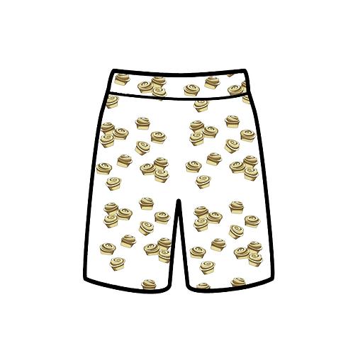 Cinnamon bun shorts