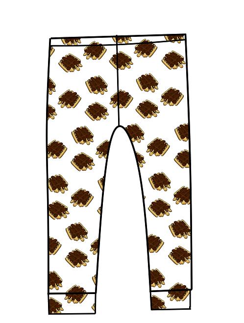 Chocolate waffle leggings