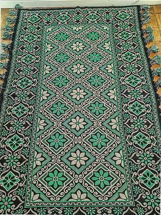 Green & black Turkish style rug