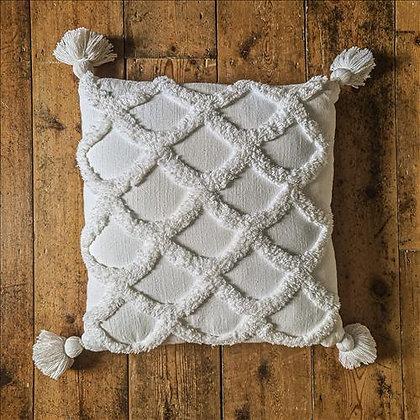 Boho shell cushion