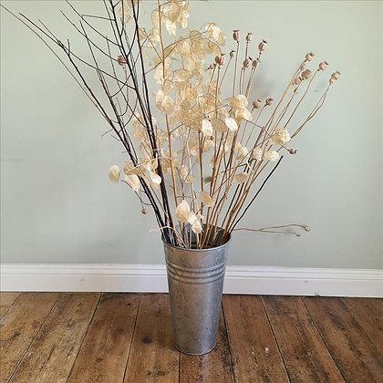 Tall aluminium vase