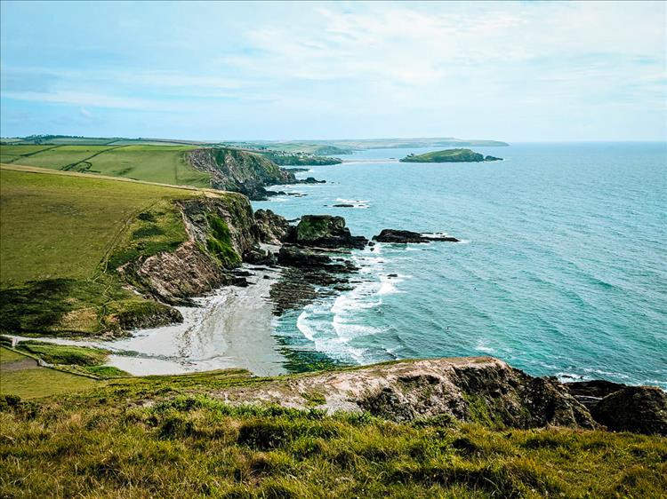 Looking over to Burgh island, Aymer and Bantham.
