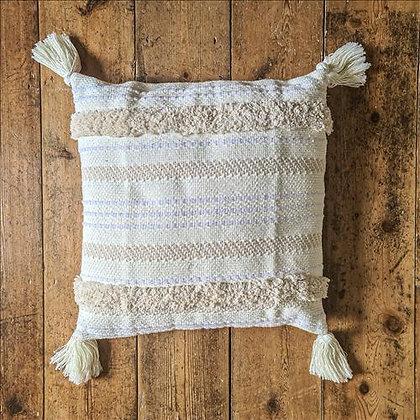 Boho cream cushion