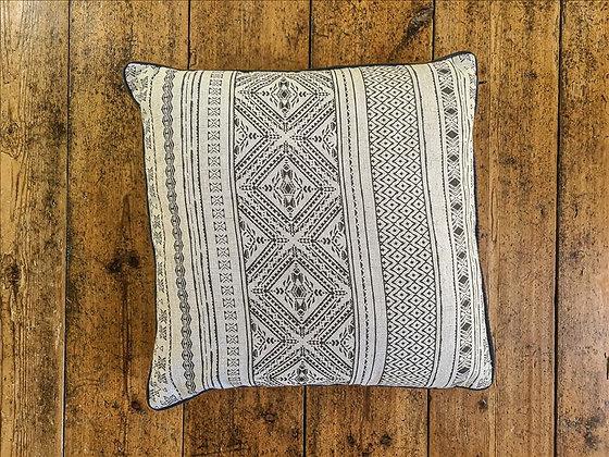 Reversible boho cushion