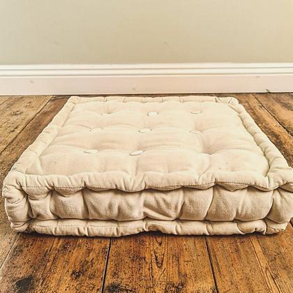 Cream floor cushion