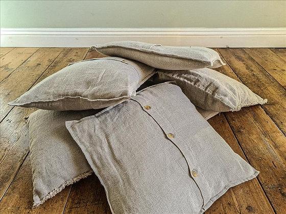 Beige linen cushion