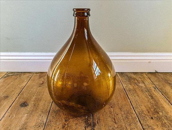 Medium amber glass bottle
