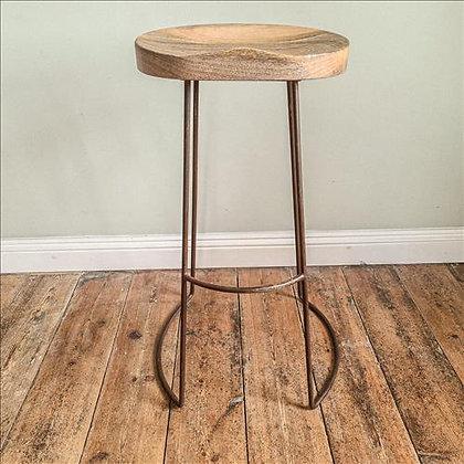 Mango wood bar stool
