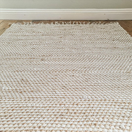 Jute and cotton rug