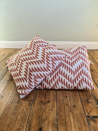 Red zigzag cushions