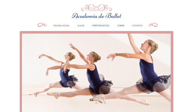 Artes Cênicas website templates – Sudio de Ballet