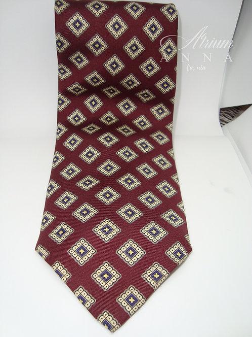 Robert Talbott For Nordstrom Hand Sewn Red Wine Silk Vintage 80s Tie