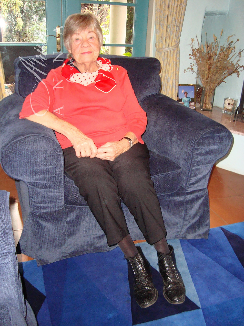 Ria Schulten in her Northern California home