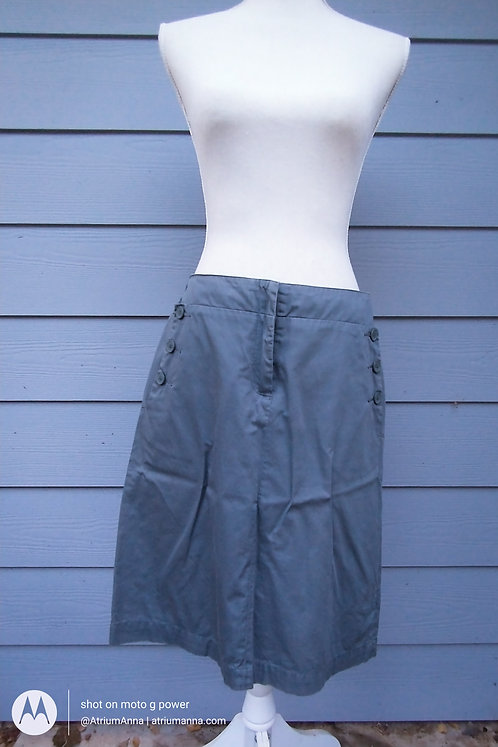 Kookai Made in France 100% Cotton Gray Pencil Skirt, EU 40