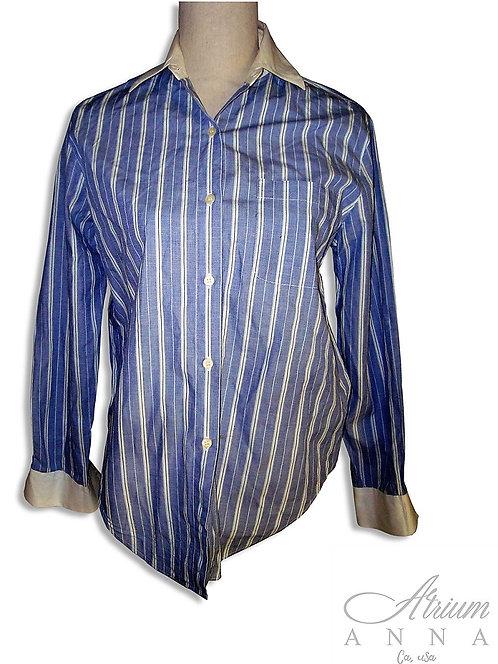 Emanuel Ungaro 90s Striped Cotton Button Down Shirt