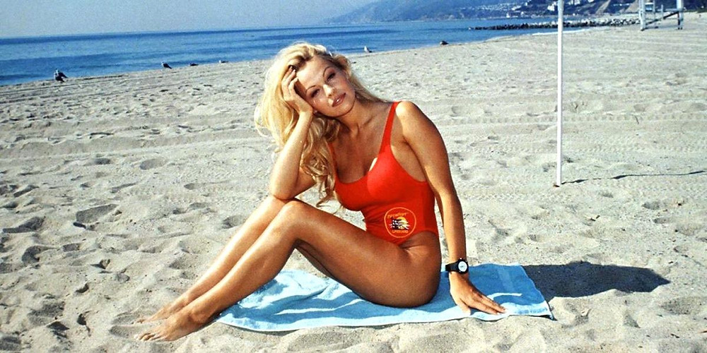 Pamela Anderson in Baywatch in the 90s