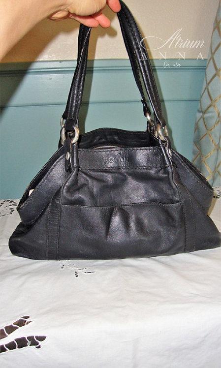 Hogan by Tod's Black Leather Vintage Shoulder Purse