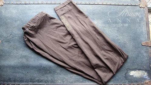 Moschino Brown Vintage 90s Leggings, M